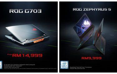 RTX显卡登陆大马!Asus ROG G703GX与ROG Zephyrus S GX531GW开卖,售RM9999起!