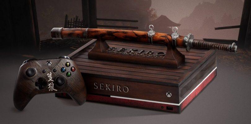 脑洞大开外形!《Sekiro》主题限定版Xbox One主机公布,竟是武士刀架台!