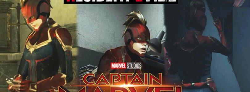 近期的《Captain Marvel》超级火红,就连《Resident Evil 2》Claire也cosplay她!