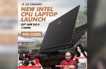 MSI将于4月23日举办发布会:现场直播观看数达2000将送出总值RM8000的礼品,包括一张电竞椅!